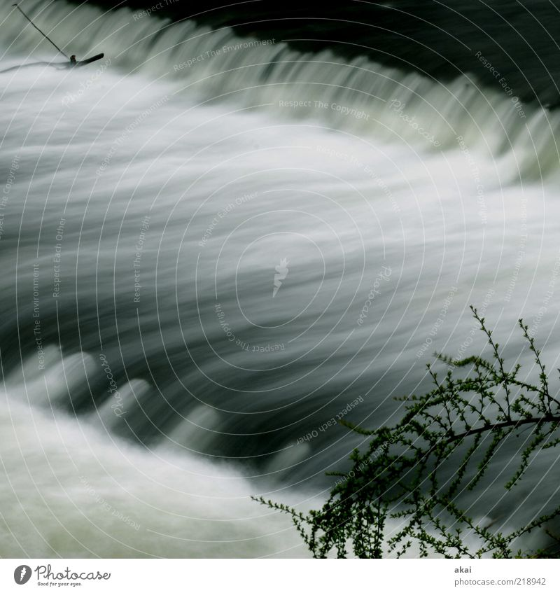 3sam Wasser Gefühle grau Stimmung Umwelt Wassertropfen Fluss Bach Flussufer Wasserfall Umweltschutz Freiburg im Breisgau Langzeitbelichtung