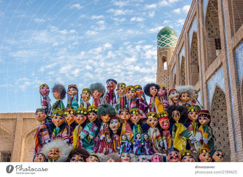 Usbekische Marionetten in traditioneller Kleidung Stil Design Ferien & Urlaub & Reisen Tourismus Dekoration & Verzierung Mensch Kunst Gebäude Architektur Mode