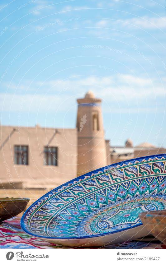 Keramik in der Altstadt von Chiwa Teller Schalen & Schüsseln Handarbeit Tourismus Dekoration & Verzierung Handwerk Kunst Kultur Stadt Gebäude Architektur alt