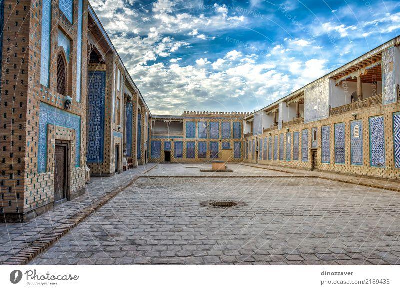 Atrium der Madrassa, Chiwa Haus Dekoration & Verzierung Kunst Stadt Gebäude Architektur Ornament alt blau Religion & Glaube Tradition Usbekistan Khiva Islam