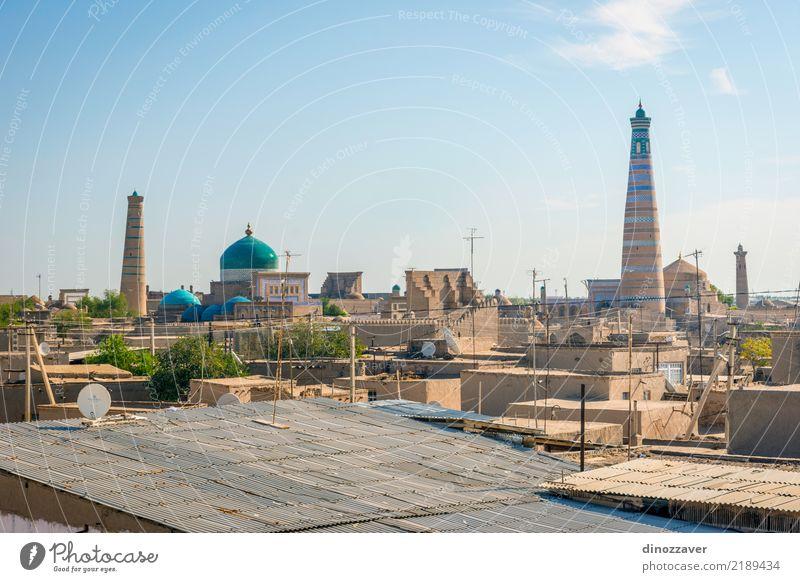 Skyline von Khiva, Usbekistan Stil Design Tourismus Dekoration & Verzierung Kunst Stadt Stadtzentrum Altstadt Architektur Ornament alt groß Farbe