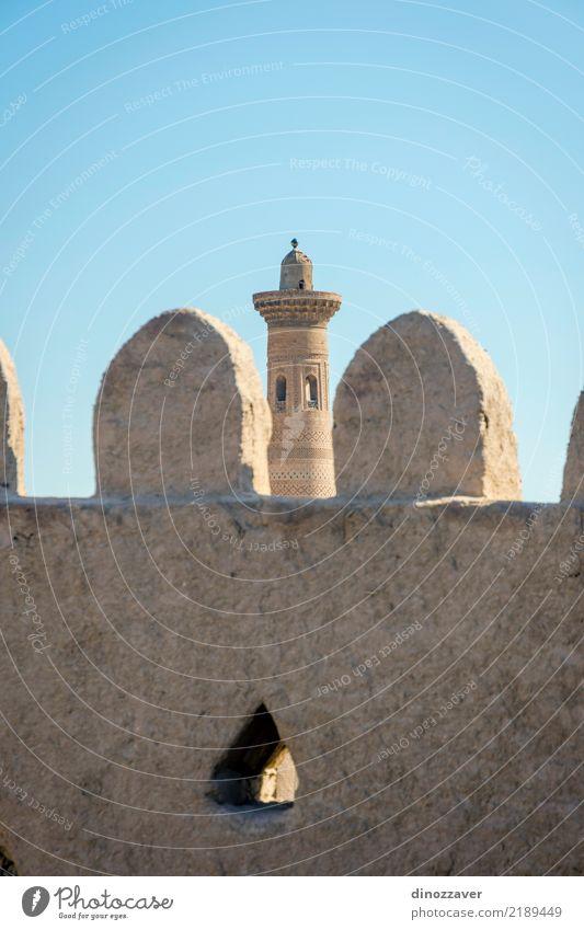 Alte Stadtmauer und Minarett, Chiwa, Usbekistan Stil Design Dekoration & Verzierung Sand Altstadt Skyline Architektur Ornament alt Religion & Glaube Tradition