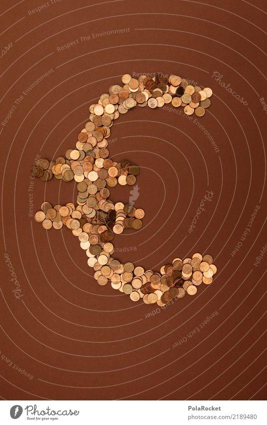 #AS# Eurobraun Kunst ästhetisch Eurozeichen Geld Geldmünzen viele Symbole & Metaphern Farbfoto mehrfarbig Innenaufnahme Studioaufnahme Nahaufnahme