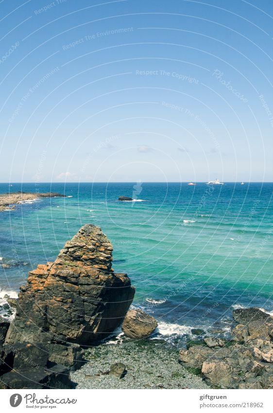 cornish coast Umwelt Natur Landschaft Urelemente Wasser Himmel Wellen Küste Strand Bucht Meer Insel natürlich blau Cornwall Großbritannien England Felsen