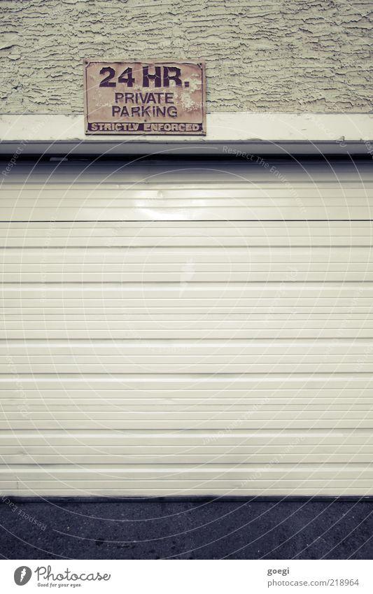 24/7 Haus Gebäude Mauer Wand Fassade Garagentor Parkplatz Schilder & Markierungen Hinweisschild Warnschild Verbote Parkverbot privat Privatparkplatz