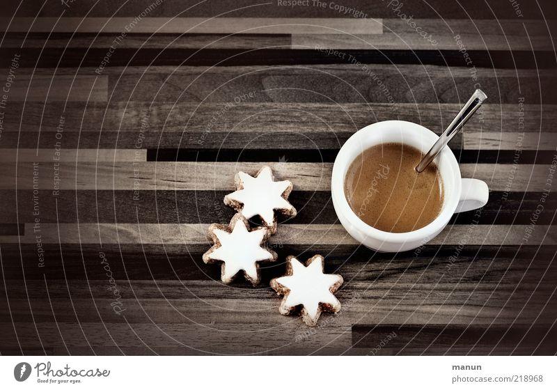 Adventskäffchen Lebensmittel Teigwaren Backwaren Kuchen Dessert Süßwaren Zimtstern Ernährung Kaffeetrinken Getränk Heißgetränk Espresso Tasse Lifestyle