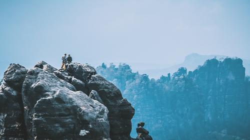 gipfelstürmer Lifestyle Freizeit & Hobby Ferien & Urlaub & Reisen Tourismus Ausflug Abenteuer Ferne Freiheit Berge u. Gebirge wandern Sport Klettern Bergsteigen