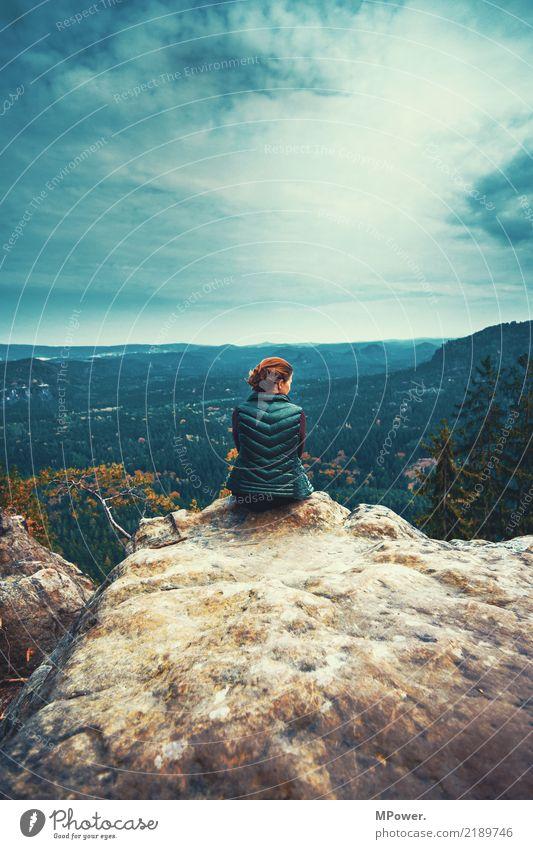 oben auf des berges spitze... Freizeit & Hobby frau Ferien & Urlaub & Reisen Tourismus Ausflug Abenteuer Ferne Freiheit Berge u. Gebirge wandern Junge Frau