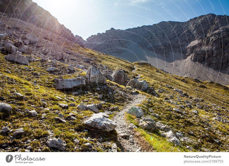 trakking in the lech highland Natur Ferien & Urlaub & Reisen Pflanze blau Sommer Sonne Erholung ruhig Ferne Berge u. Gebirge Leben Wärme gelb Umwelt Gesundheit