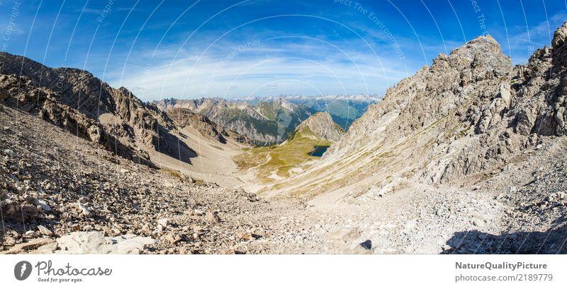 Panorama in Gramais Natur Ferien & Urlaub & Reisen Sommer Landschaft Ferne Berge u. Gebirge Leben Umwelt Wege & Pfade Gefühle Sport Tourismus Freiheit Sand
