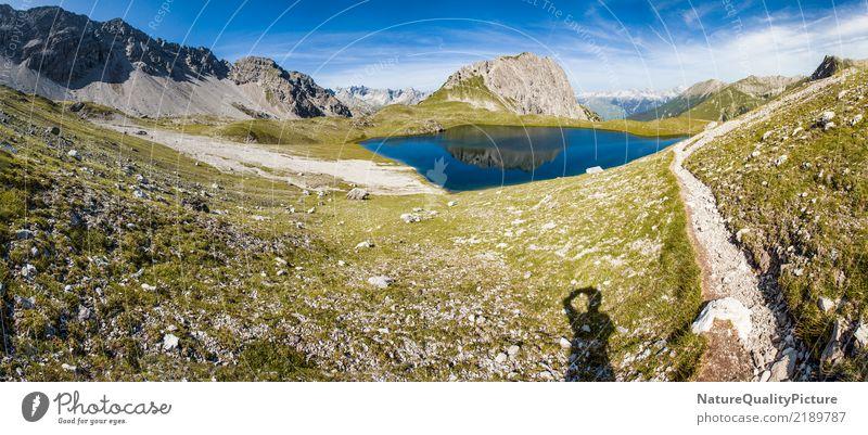 hiking trail in lech - austria - kogelsee Mensch Natur Ferien & Urlaub & Reisen Sommer Erholung ruhig Freude Ferne Berge u. Gebirge Gesundheit Hintergrundbild