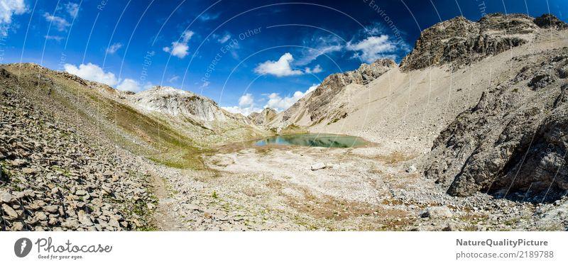 hiking trail in lech - austria Himmel Natur Ferien & Urlaub & Reisen Sommer Landschaft Wolken ruhig Ferne Berge u. Gebirge Leben Umwelt Hintergrundbild