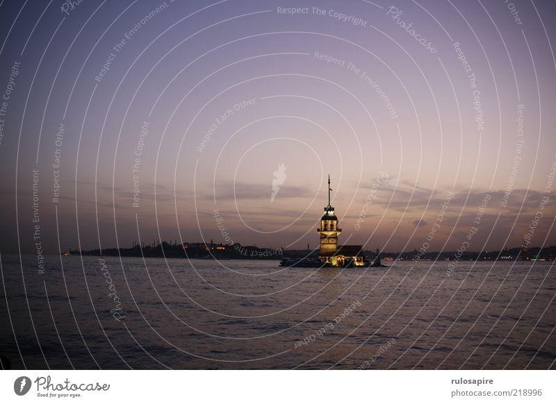 Bosporus Wasser Himmel Stadt blau Ferien & Urlaub & Reisen Ferne Luft rosa frei Horizont Tourismus Aussicht violett Hafen Skyline Wahrzeichen