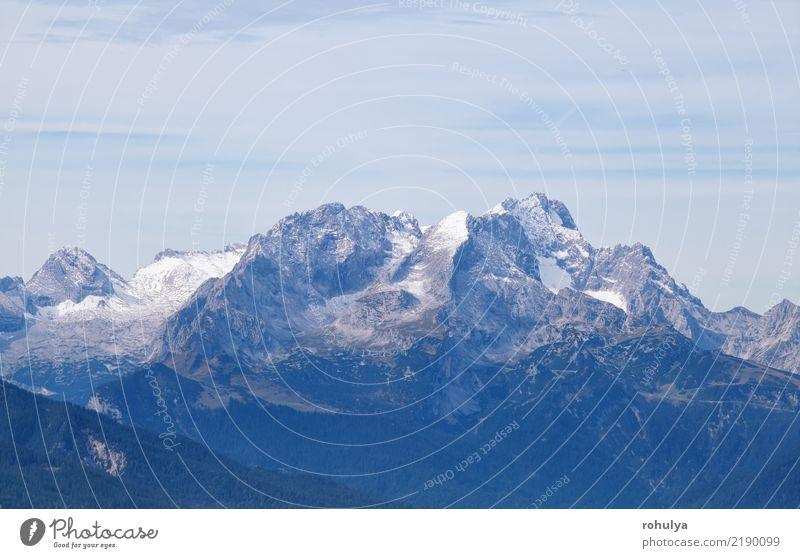 Karwendel Bergrücken und Himmel Ferien & Urlaub & Reisen Berge u. Gebirge Klettern Bergsteigen Natur Landschaft Herbst Winter Wetter Felsen Alpen Gipfel