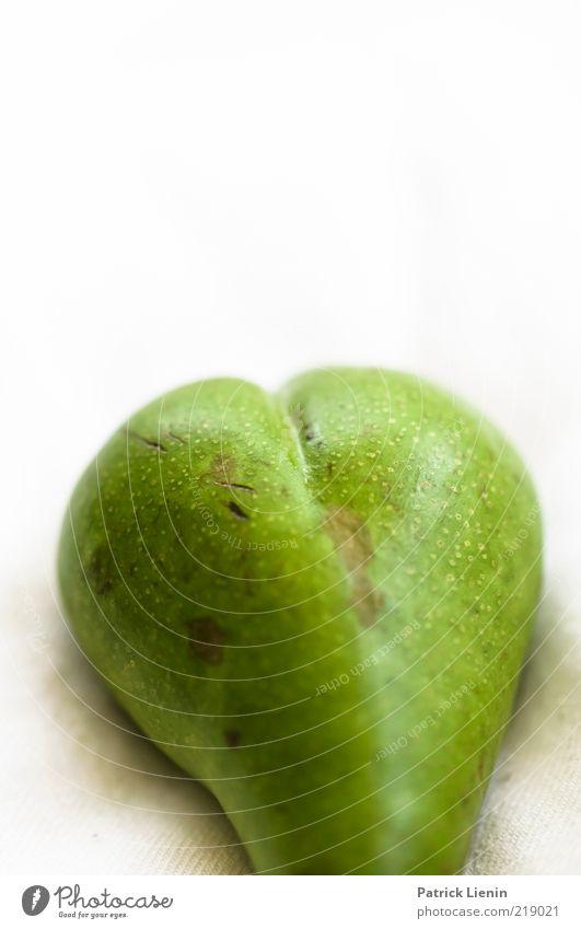 Birnenhintern schön grün Ernährung Linie Gesundheit glänzend Lebensmittel Frucht ästhetisch Gesäß rund fest außergewöhnlich dick lecker