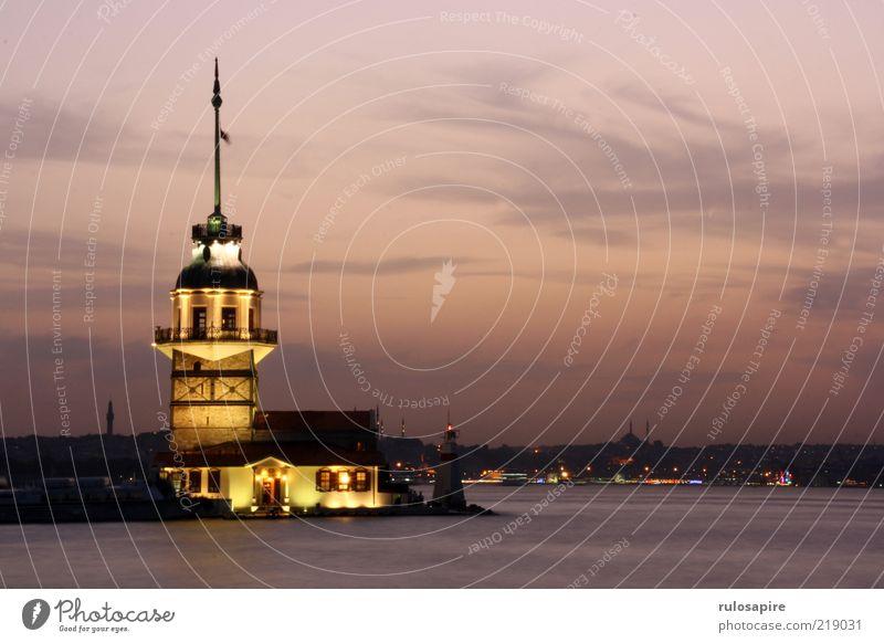 Bosporus #3 Wasser Meer Stadt Ferien & Urlaub & Reisen Wolken Ferne Gebäude Luft Küste Horizont Insel Tourismus Turm Nachthimmel leuchten Skyline