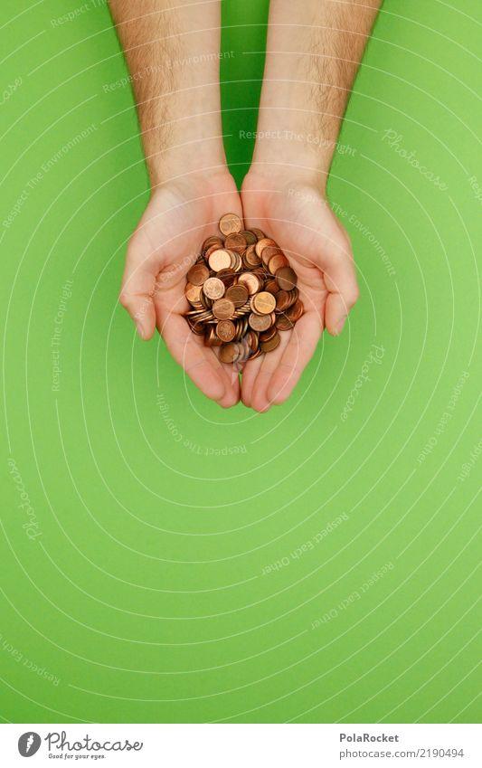 #AS# nachhaltiges Investment Kunst Kunstwerk ästhetisch Geld Geldmünzen Geldgeschenk Geldgeber Geldkapital ökologisch investieren investment geben viele grün