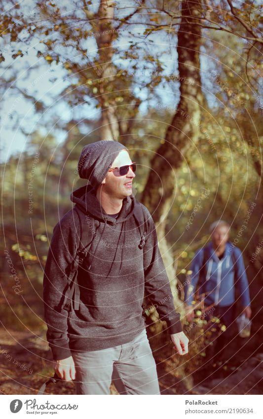 #AS# close to nature I Freizeit & Hobby Mensch maskulin Junger Mann Jugendliche 2 18-30 Jahre Erwachsene genießen wandern Sächsische Schweiz Schatten Beanie