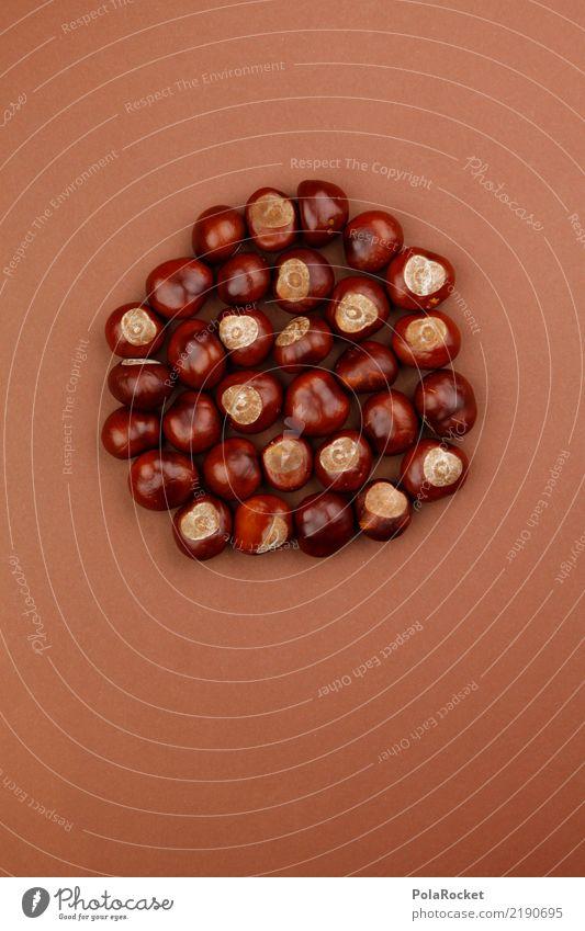 #AS# Kastanienrudel Kunst ästhetisch Herbst herbstlich Herbstfärbung Herbstbeginn braun Kastanienbaum viele Anhäufung Rudel Farbfoto mehrfarbig Innenaufnahme