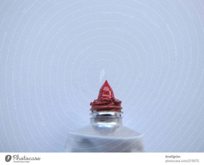 Red Freizeit & Hobby malen Tube glänzend rot weiß Farbe Idee Inspiration Kunst Farbstoff Künstlerfarbe Gouache getrocknet Spitze Farbfoto Studioaufnahme
