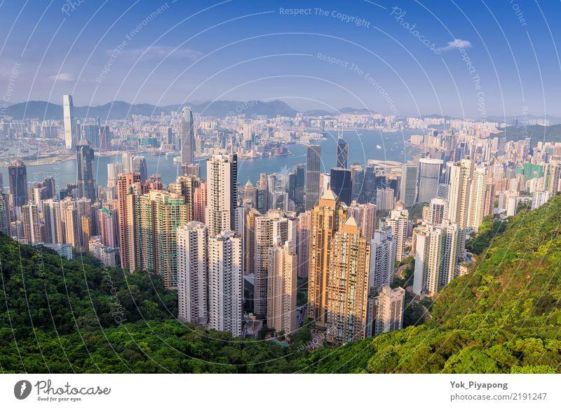 Hong Kong Building City mit Tageszeit Himmel Ferien & Urlaub & Reisen schön Baum Landschaft Meer Wald Berge u. Gebirge Architektur Gebäude Business Tourismus
