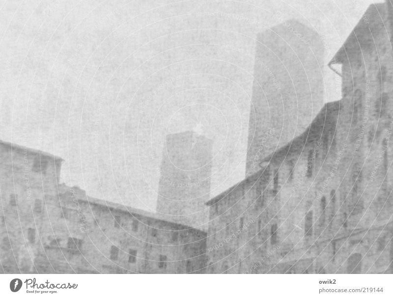 Lange her Ferne San Gimignano Südeuropa Kleinstadt Stadtzentrum Altstadt Skyline bevölkert Haus Turm Geschlechterturm Mauer Wand Fenster Sehenswürdigkeit