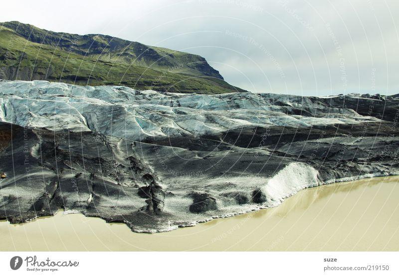 Svinafellsjökull Schnee Berge u. Gebirge Umwelt Natur Landschaft Urelemente Erde Wasser Himmel Wolken Klima Wetter Eis Frost Hügel Felsen Gletscher