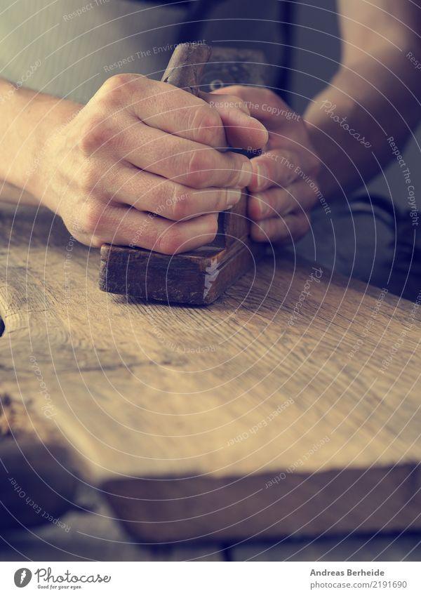 Hobeln heimwerken Arbeit & Erwerbstätigkeit Handwerker Arbeitsplatz Baustelle Mittelstand Werkzeug retro Idee einzigartig Kreativität Tradition construction