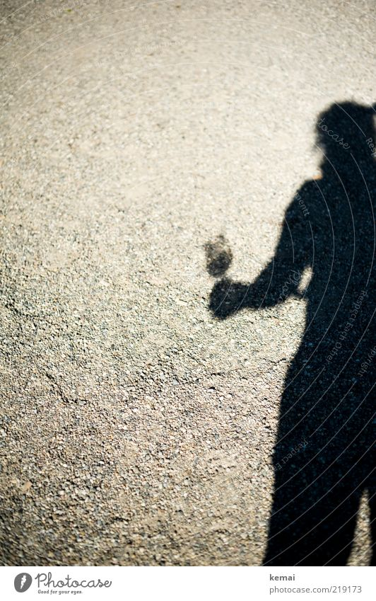 Nachschub holen Mensch Frau Erwachsene dunkel Stein hell Glas stehen Getränk Wein Alkohol Schattenspiel Weinglas Silhouette haltend