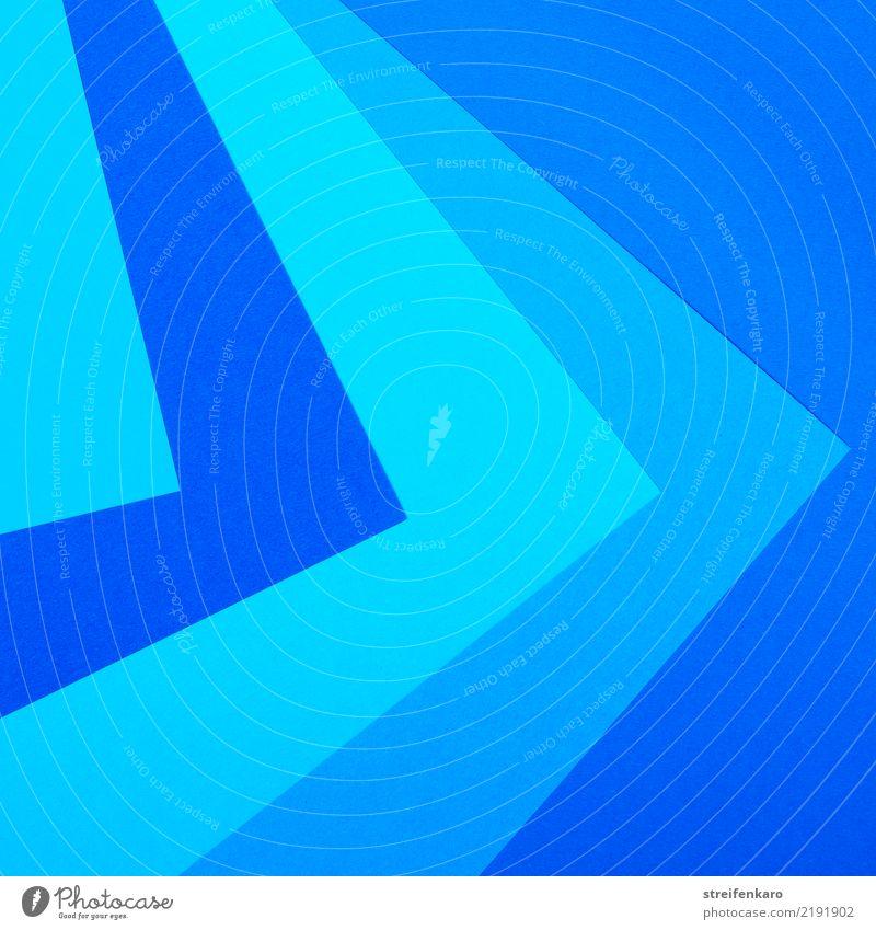 !Trash! 2017 | Blau in blau Farbe Zufriedenheit Linie ästhetisch Ordnung Papier Streifen Pfeil eckig Mitgefühl Ordnungsliebe gewissenhaft Farbton