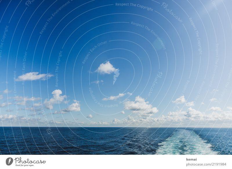 Ärmelkanal Himmel Natur Ferien & Urlaub & Reisen Sommer blau schön Wasser Meer Erholung Wolken ruhig Ferne Wärme Tourismus Freiheit Ausflug
