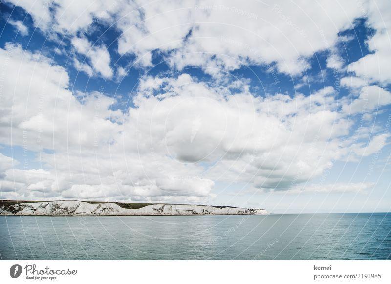 Land in Sicht Himmel Ferien & Urlaub & Reisen Sommer blau Wasser Landschaft Meer Erholung Wolken ruhig Ferne Küste Tourismus Freiheit Felsen Ausflug