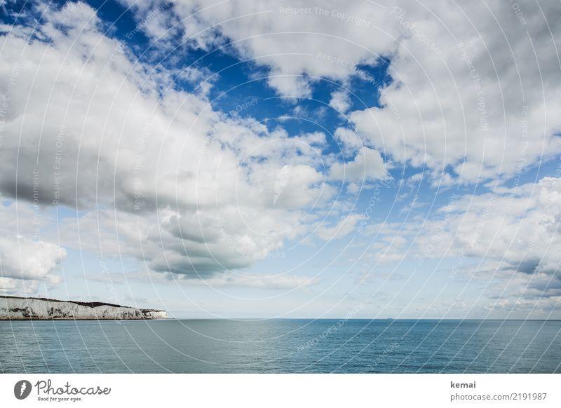 Land in Sicht Himmel Ferien & Urlaub & Reisen blau schön Wasser Landschaft Meer Erholung Wolken ruhig Ferne Tourismus Freiheit Felsen Ausflug Zufriedenheit