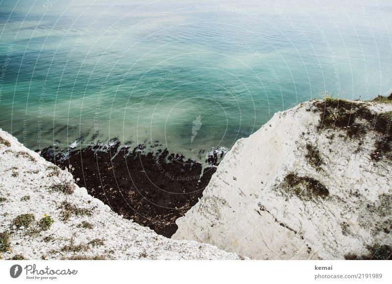 Weißer Fels, schwarzer Sand harmonisch Wohlgefühl Erholung ruhig Freizeit & Hobby Ferien & Urlaub & Reisen Tourismus Ausflug Abenteuer Freiheit Sightseeing