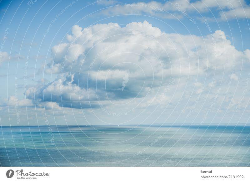 Die Wolke harmonisch Wohlgefühl Zufriedenheit Sinnesorgane Erholung ruhig Freizeit & Hobby Ausflug Abenteuer Ferne Freiheit Sommer Sonne Meer Natur Luft Wasser