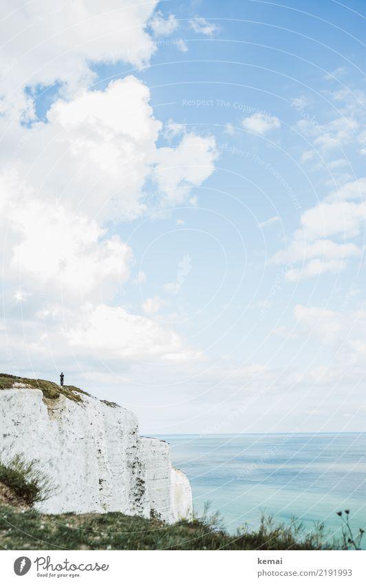 Klippengänger Mensch Himmel Natur Ferien & Urlaub & Reisen Sommer Wasser Landschaft Erholung Wolken ruhig Ferne Lifestyle Küste Tourismus Freiheit Ausflug
