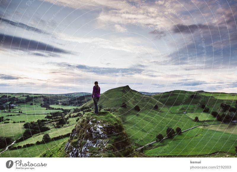 Chrome Hill Mensch Himmel Natur Ferien & Urlaub & Reisen Sommer grün Landschaft Erholung Wolken ruhig Ferne Lifestyle Leben Freiheit Felsen Ausflug