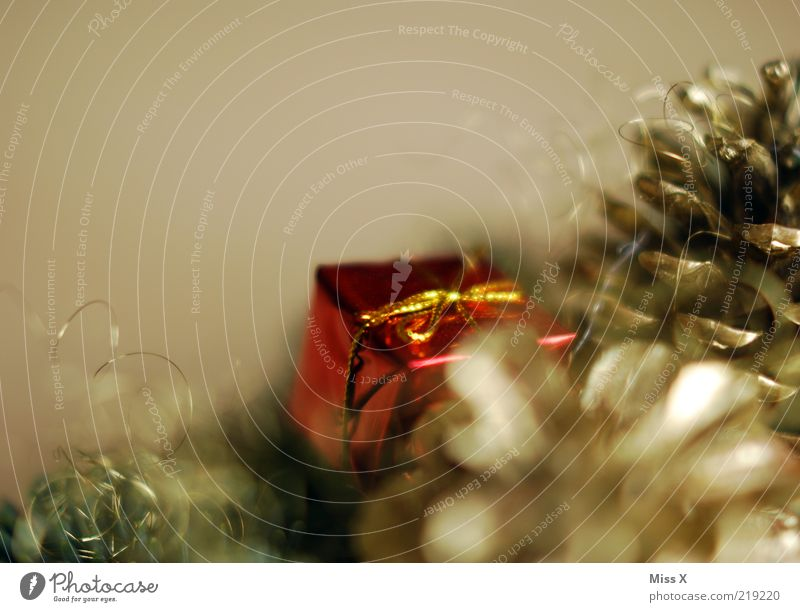 Weihnachtsgeschenk glänzend gold filigran Geschenk Weihnachtsdekoration Dekoration & Verzierung Adventskranz Zapfen Weihnachten & Advent Chrom Baumschmuck