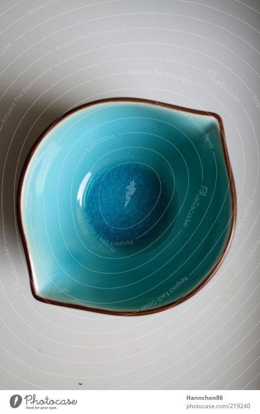 Kreis im Rechteck Schalen & Schüsseln Dekoration & Verzierung ästhetisch Design Mittelpunkt Perspektive ruhig türkis Kontrast blau umrandet Behälter u. Gefäße