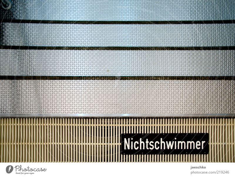 Nur mit Flügeln Wasser Linie Metall Schilder & Markierungen Sicherheit Treppe Schwimmbad Freizeit & Hobby Schutz Schwimmen & Baden Hinweisschild Warnhinweis