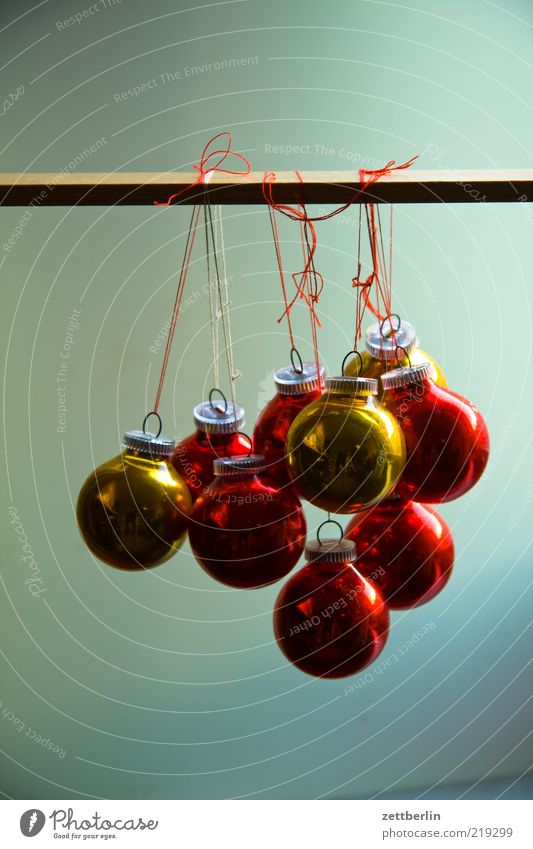 Weihnachten again Design Dekoration & Verzierung Weihnachten & Advent Accessoire Glas Kugel rund Weihnachtsdekoration Christbaumkugel hängen verschönern Knoten