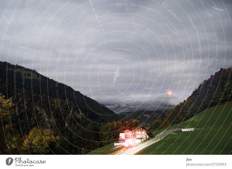 schöner als Timelapse Himmel Natur Sommer Landschaft Haus Wolken ruhig Ferne Berge u. Gebirge Herbst Bewegung Zeit Erde Ausflug Freizeit & Hobby wandern