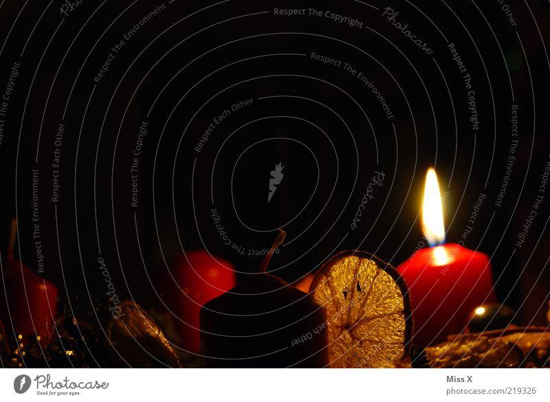 Advent Advent ... Weihnachten & Advent leuchten Adventskranz Orangenscheibe Dekoration & Verzierung Weihnachtsdekoration Kerze Kerzenschein Flamme anzünden