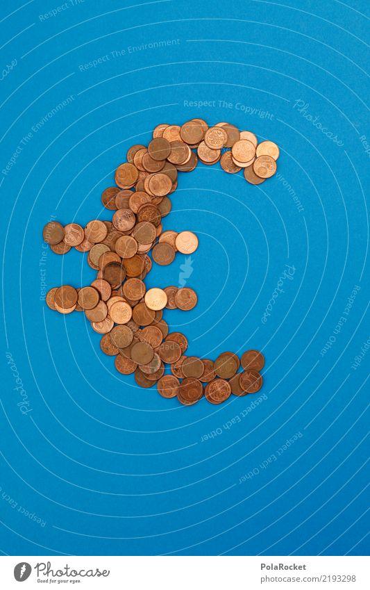 #AS# Münzblau Kunst Kunstwerk ästhetisch Geld Geldinstitut Geldmünzen Geldgeschenk Geldkapital Geldgeber Eurozeichen viele sparen Europa Währungsunion Bronze