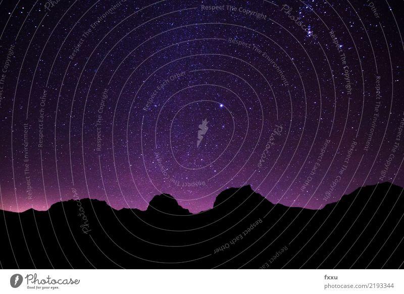 Gurnigel bei Nacht Stern Sternenhimmel Berge u. Gebirge Langzeitbelichtung Abenddämmerung Schweiz gurnigel Nachthimmel Landschaft Natur Stimmung Atmosphäre