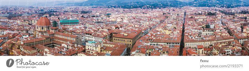 Panorama Florenz Stadt Haus Kirche Gebäude Italien Landschaft Dach Tourismus Architektur Toskana