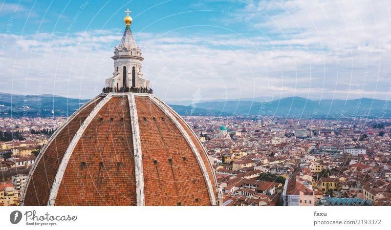 Kathedrale von Florenz Aussicht Stadt Haus Religion & Glaube Kirche Gebäude Italien Landschaft Dach Tourismus Architektur Toskana Panorama (Aussicht)