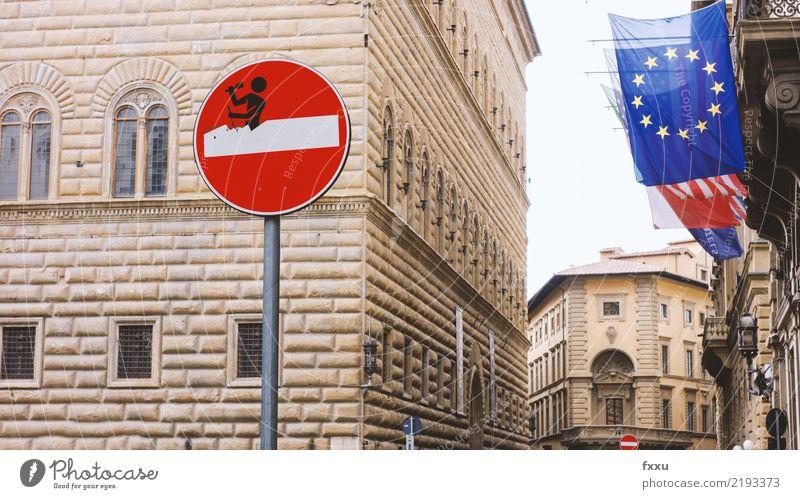 Die EU-Gemeinschaft bröckelt Zusammensein Europa Team Zusammenhalt stoppen Netz Verbindung Europäer Gesellschaft (Soziologie) Politik & Staat Verbundenheit