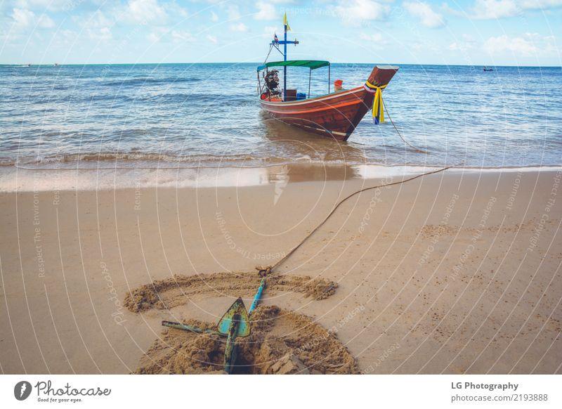 Ferien & Urlaub & Reisen schön Sonne Meer Erholung Strand Sand Wasserfahrzeug Verkehr Idylle Abenteuer Seil Asien exotisch tropisch