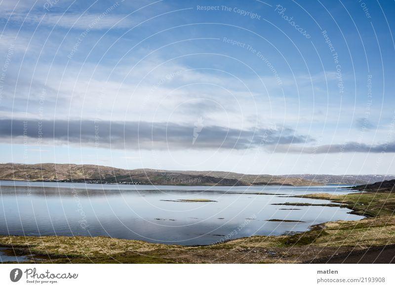 windstill Himmel Natur Pflanze blau grün Wasser Landschaft Wolken gelb Frühling Küste Gras braun Horizont Luft Insel